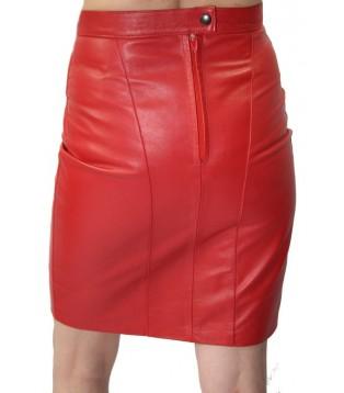 Mini jupe cuir rouge